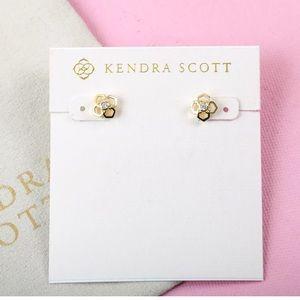 NEW Kendra Scott Rue Stud Earrings In Gold